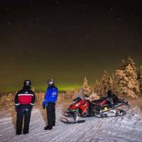 Laponia, skutery śnieżne