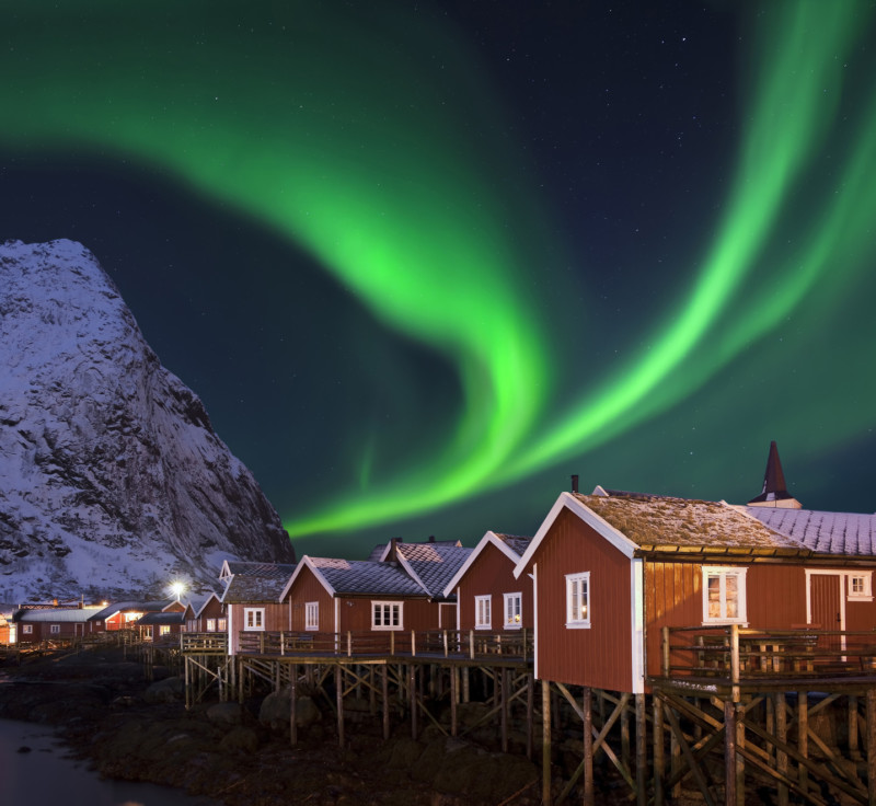 Wyjazd motywacyjny i integracyjny do Norwegii. Zorza polarna.