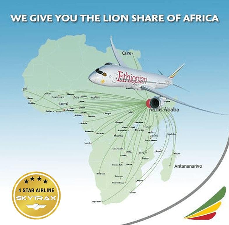 ethiopian airlines afryka